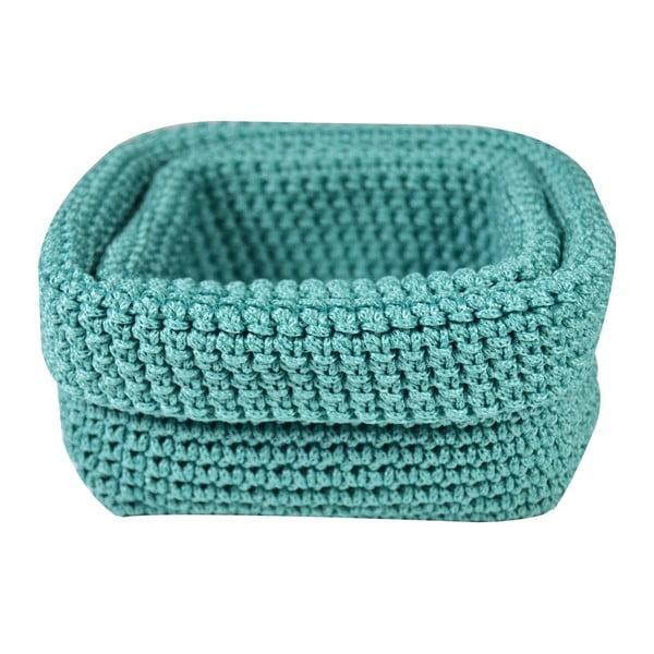 Zestaw 2 koszyków Crochet Aqua