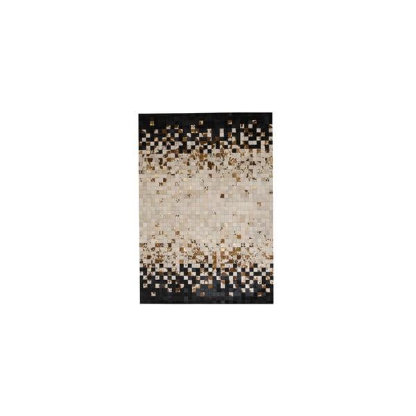 Skórzany dywan Rain Brown, 170x240 cm