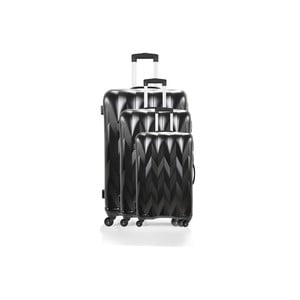 Zestaw 3 walizek Heathrow Black