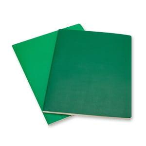 Zestaw 2 notesów  Moleskine Emerald, w linie 25x19 cm