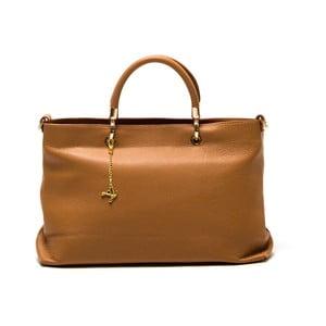 Skórzana torebka Luisa Vannini 1131 Cognac