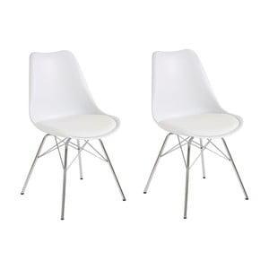 Zestaw 2 białych krzeseł Støraa Jenny