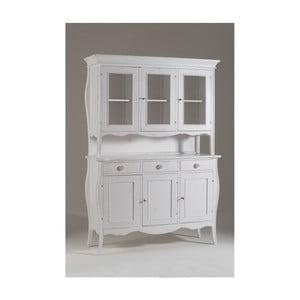 Biały 6-drzwiowy kredens drewniany Castagnetti Chantal