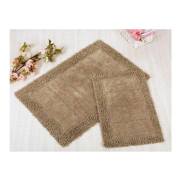 Zestaw 2 brązowych dywaników łazienkowych Irya Home Vesta, 60x100 cm i 40x60 cm