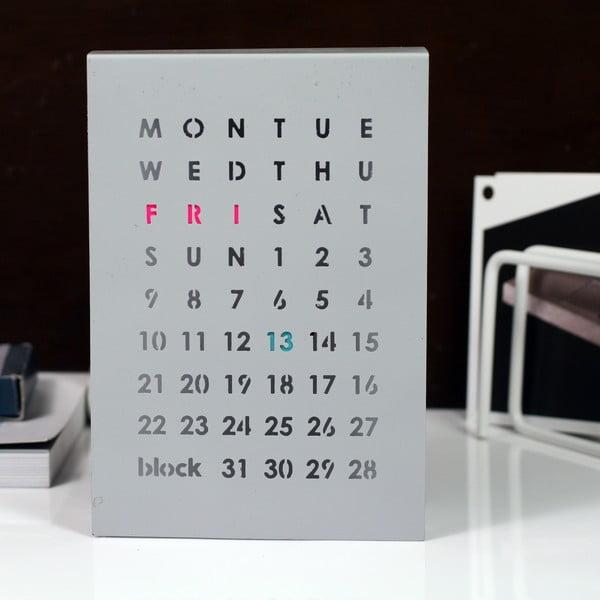 Magnetyczny kalendarz Perpetual Calendar, szary
