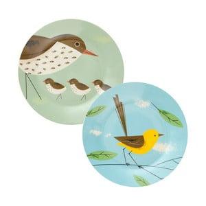 Zestaw 2 talerzy Magpie Birdy, Ø26 cm