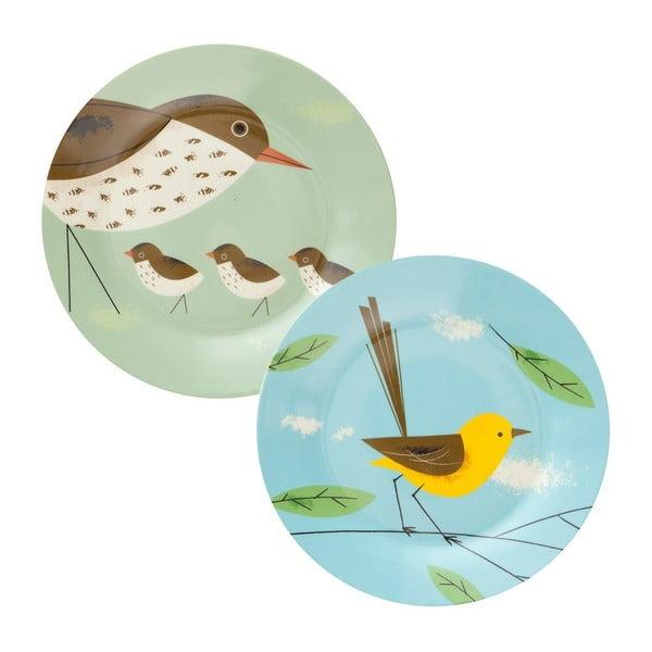 Zestaw 2 talerzy Magpie Birdy, Ø 26 cm