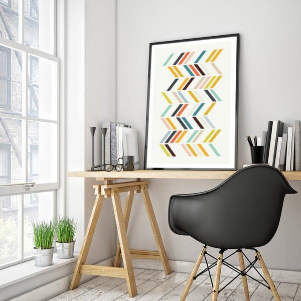 Plakat w drewnianej ramie Japonica, 38x28 cm