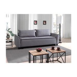 Szara sofa rozkładana Sinkro Sherman