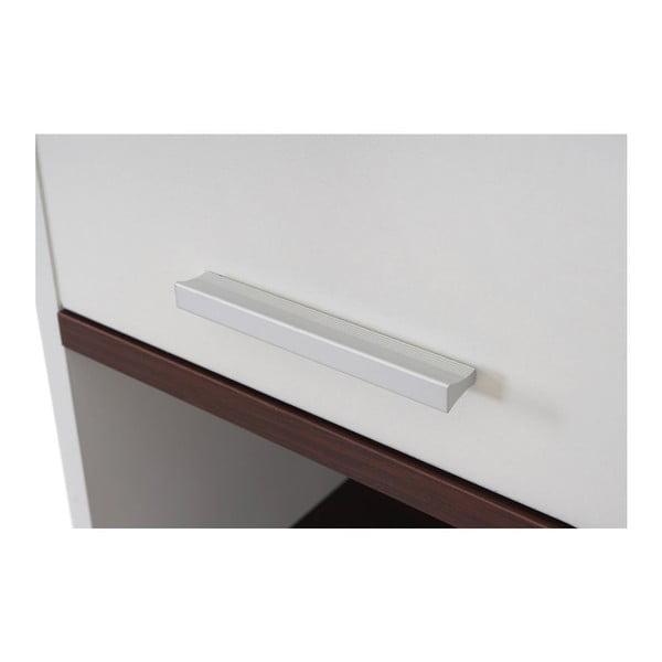 Szafka łazienkowa Sonoma White/Brown, 31,5x179 cm