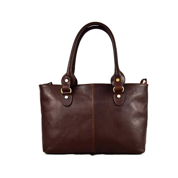 Skórzana torebka Santo Croce 132088 Dark Brown