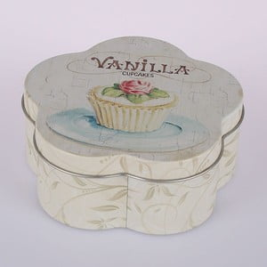 Blaszany pojemnik Vanilla Cupcake Flower