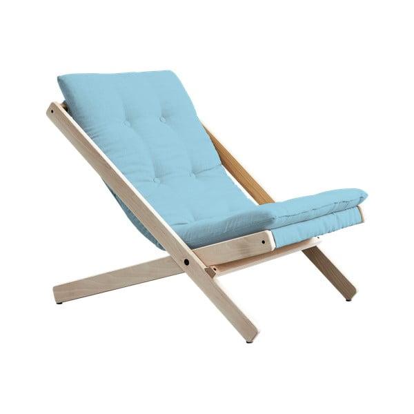 Fotel składany Karup Design Boogie Raw/Celeste
