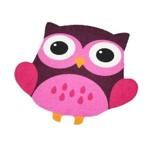 Brązowo-różowy dywan dziecięcy Zala Living Owl, 66x66cm