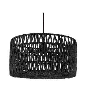 Czarna lampa wisząca Leitmotiv Paper Rope Straight