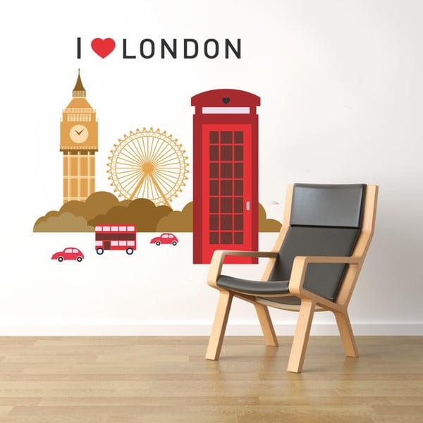 Naklejka na ścianę Londyn, 60x90 cm