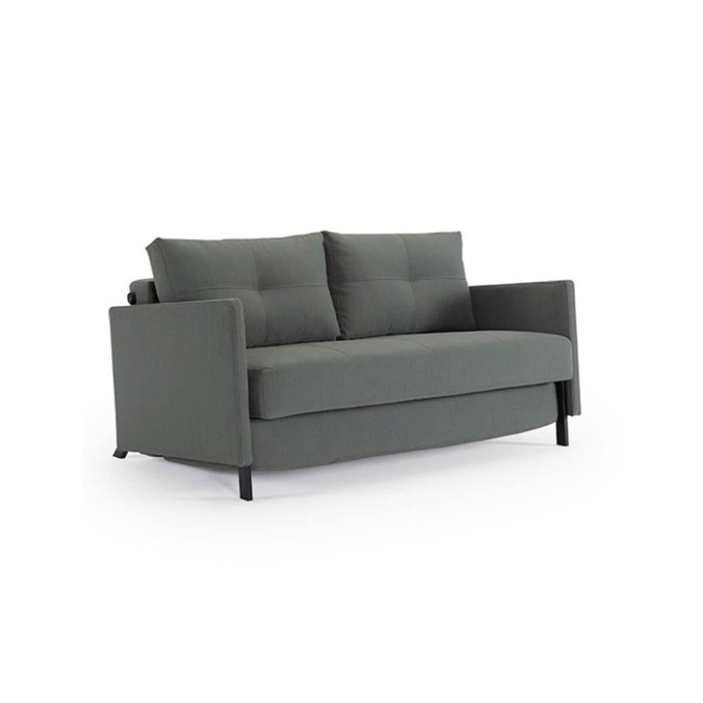 Zielona rozkładana sofa Innovation Cuber With Arms Elegance Green, 100x154 cm
