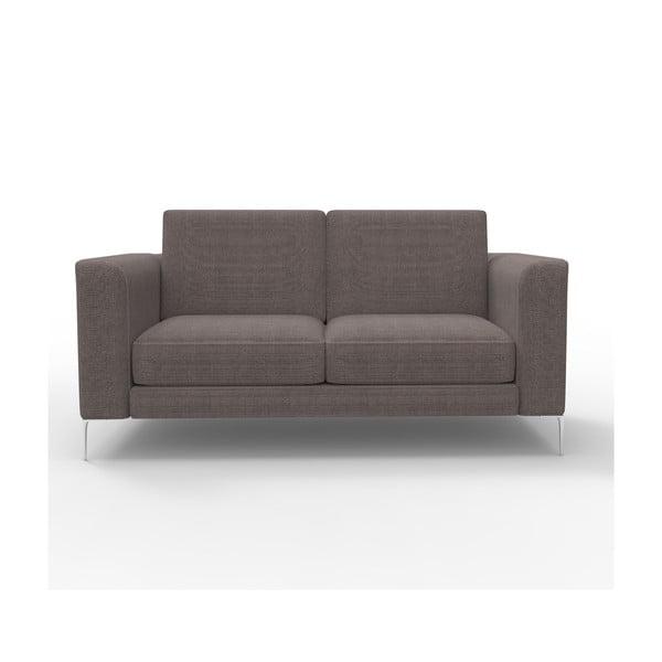 Sofa dwuosobowa Miura Musa, pokrycie brązowe, tkanina