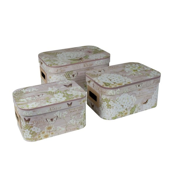Zestaw 3 pudełek Weathered