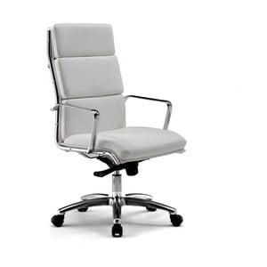 Krzesło biurowe na kółkach Chrono Zago, biało-szare