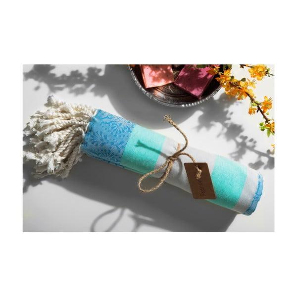 Ręcznik hammam Coast, niebieski