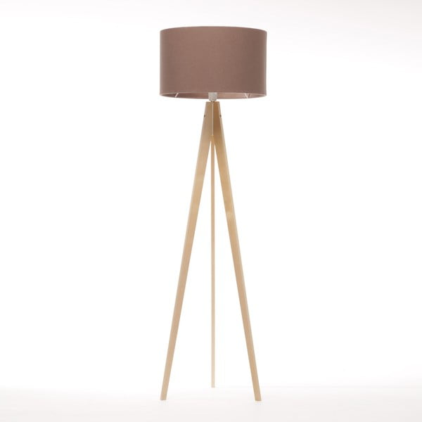 Lampa stojąca Artist Dark Taupe Felt/Natural, 125x42 cm