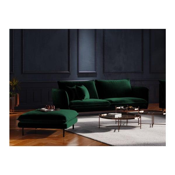 Zielony podnóżek Cosmopolitan Design Vienna, 100x80 cm