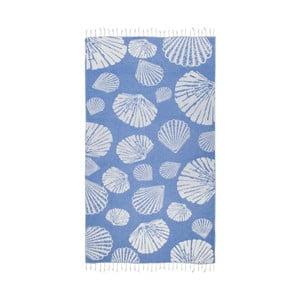 Niebieski ręcznik hammam Kate Louise Fiona, 165x100cm