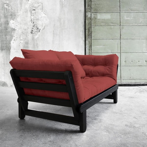 Sofa rozkładana Beat Black/Passion Red