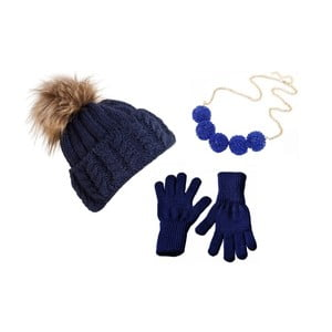 Zestaw czapki, rękawiczek i naszyjnika Lavaii Dolores