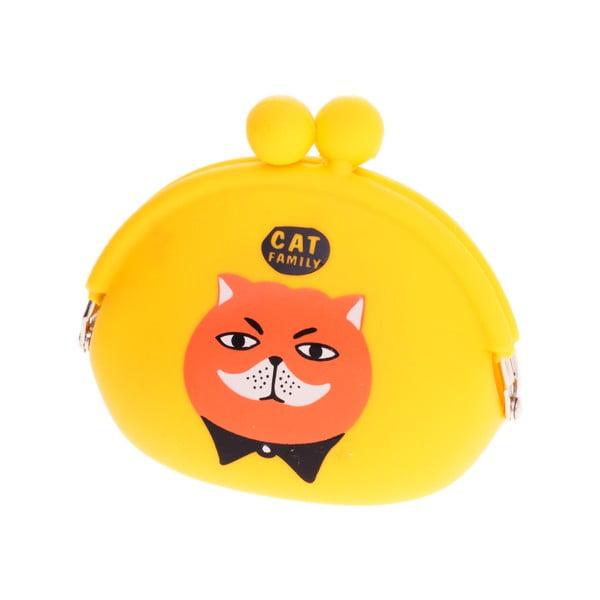 Żółta gumowa portmonetka Languo Cat