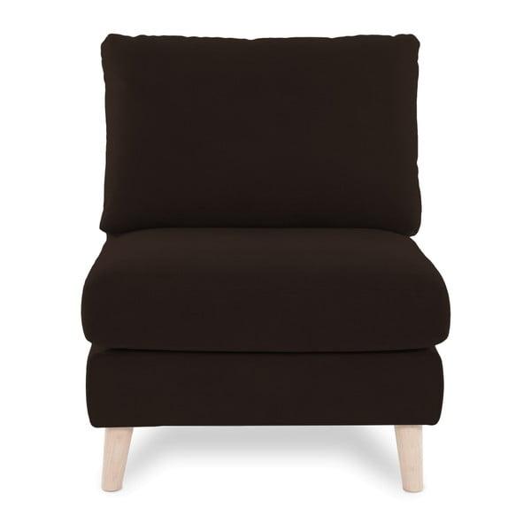 Ciemnobrązowy fotel z jasnymi nogami Vivonita Bill