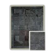 Dywan skórzany Black Crocodile, 140x200 cm