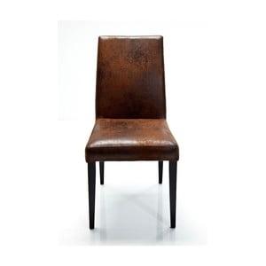 Brązowe krzesło Kare Design Casual Vintage
