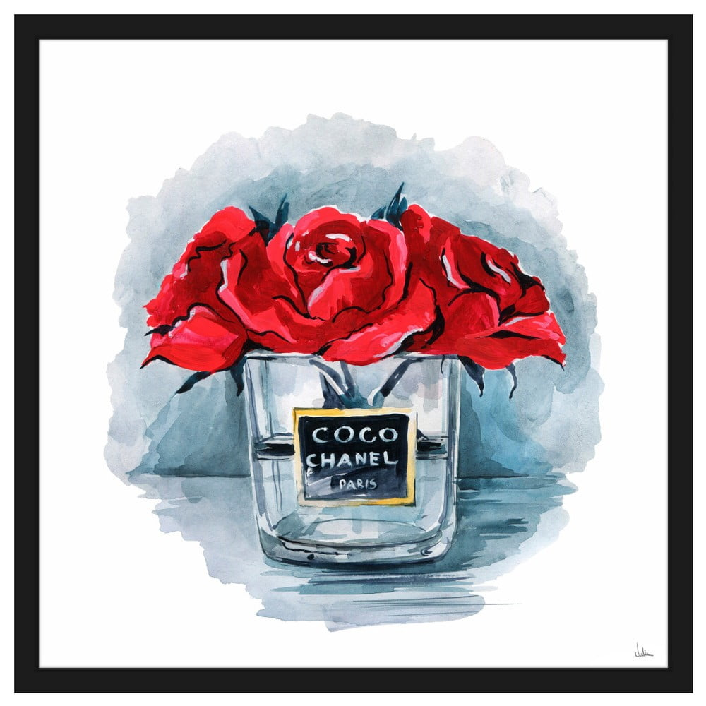 Obraz Na Płótnie Marmont Hill Coco Chanel 41x41 Cm Bonami