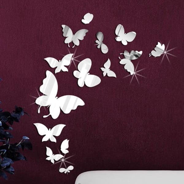 Zestaw 14 naklejek lustrzanych Walplus Motylki