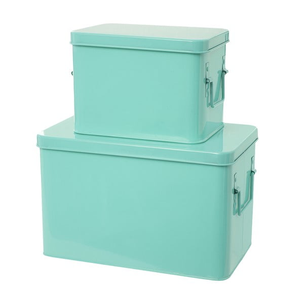 Komplet 2 pudełek Present Time Metal Mint