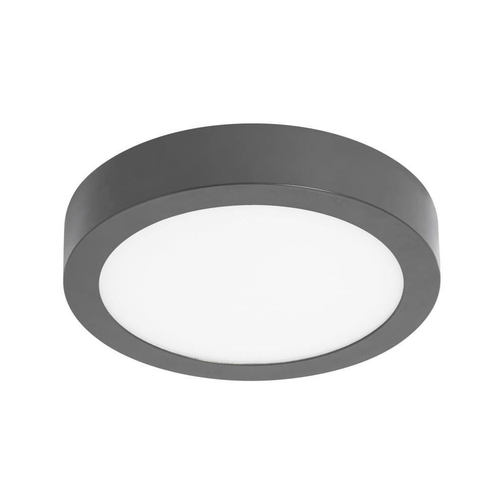 Szara okrągła lampa sufitowa SULION, ø 22,5 cm