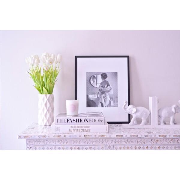 Biały wazon Hawke&Thorn, wysokość 22 cm