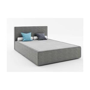 Ciemnoszare łóżko 2-osobowe Absynth Mio Soft, 160x200 cm
