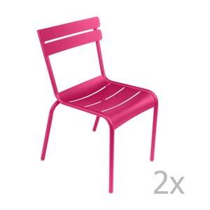 Zestaw 2 różowych krzeseł Fermob Luxembourg