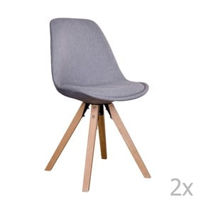 Zestaw 2 szarych krzeseł House Nordic Bergen