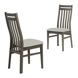 Ciemnobrązowe krzesło krzesło s konstrukcí z drewna dębowego Canett Geranium