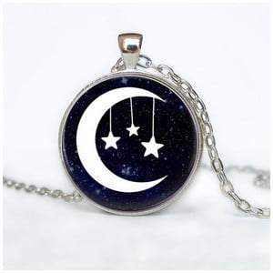 Damski łańcuszek z wisiorkiem Butoni de Camasa Moon With Stars