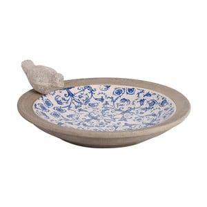 Niebiesko-białe ceramiczne poidełko dla ptaków Ego Dekor
