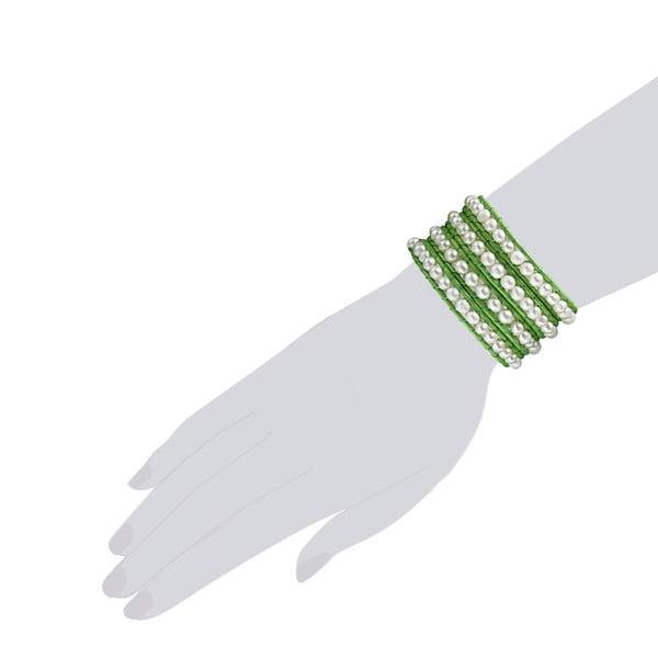 Bransoletka Evian, zielona