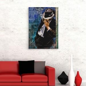 """Obraz na płótnie """"Mężczyzna z papierosem"""", 50x70 cm"""