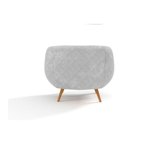 Fotel Indigo, szary z żółtymi guzikami