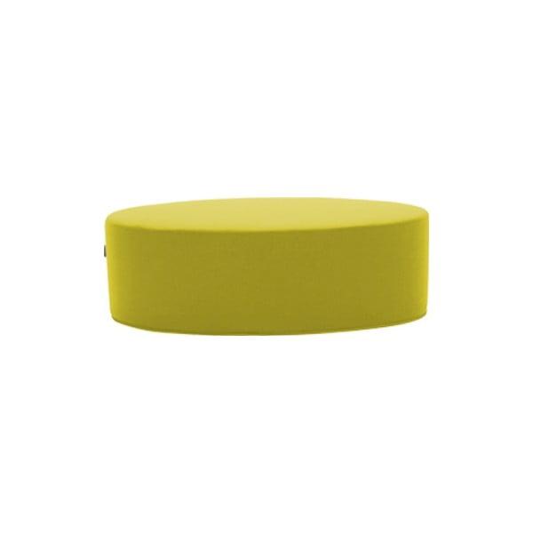 Żółty puf Softline Bon-Bon Felt Melange Yellow, dł. 100 cm
