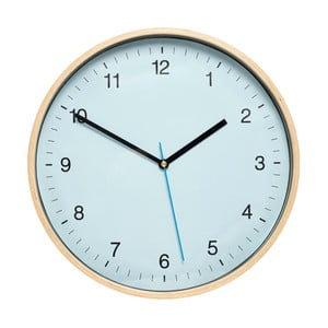 Niebieski zegar ścienny Hübsch Bell, ø31cm